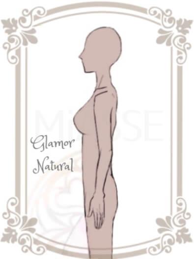 グラマーナチュラル:骨格と肩幅がしっかりしているのが大きな胸は目立ちにくいタイプ